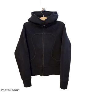 Lululemon black scuba hooded jacket size 8 medium